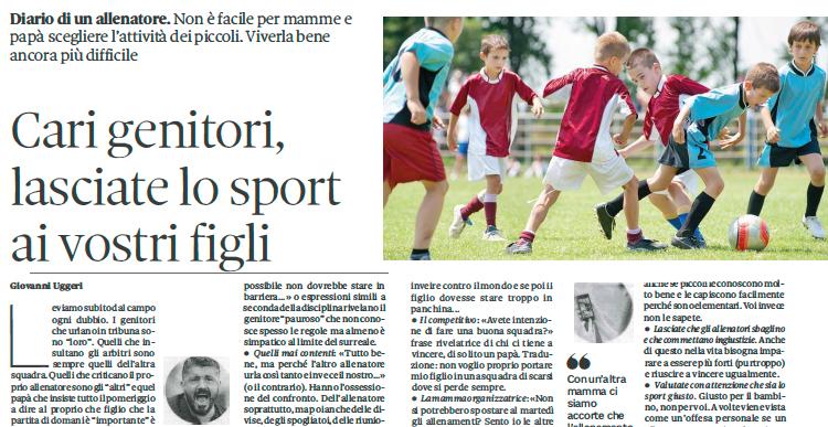 Cari Genitori Lasciate Lo Sport Ai Vostri Figli Usd Gianesini Calcio