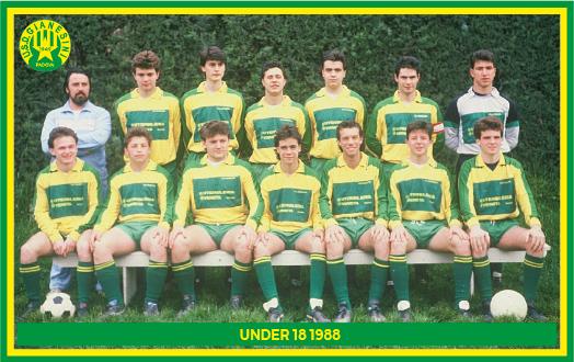 Gianesini - Squadra Under 18 nel 1988